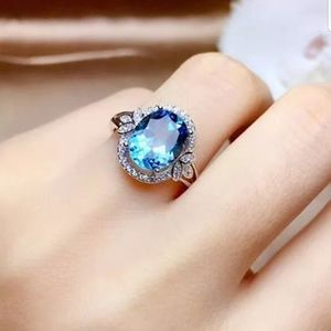 Jewelry - New shiny sterling silver blue Aquamarine ring